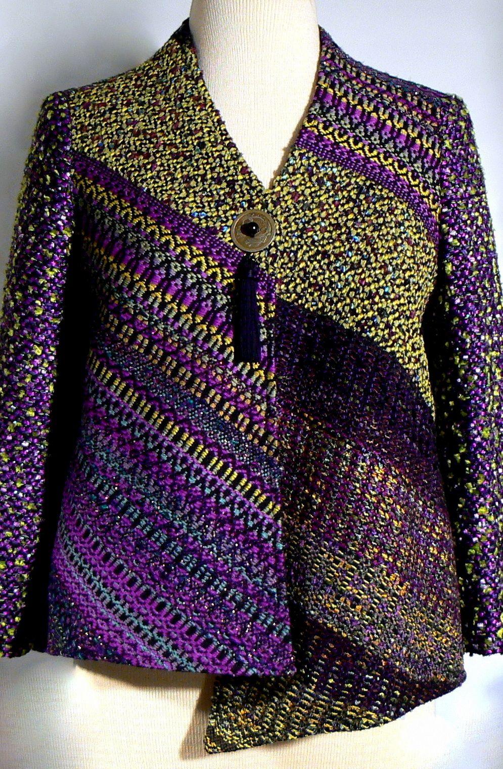 Handwoven Jacket Kathleen Weir-West 10-001.JPG | бохо | Pinterest ...