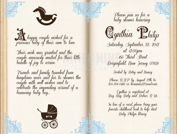 Free Storybook Baby Shower Invitations Free Baby Shower Invitation