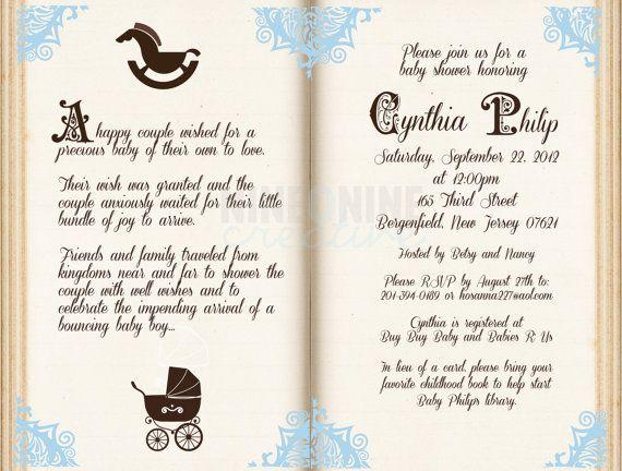 Free Storybook Baby Shower Invitations