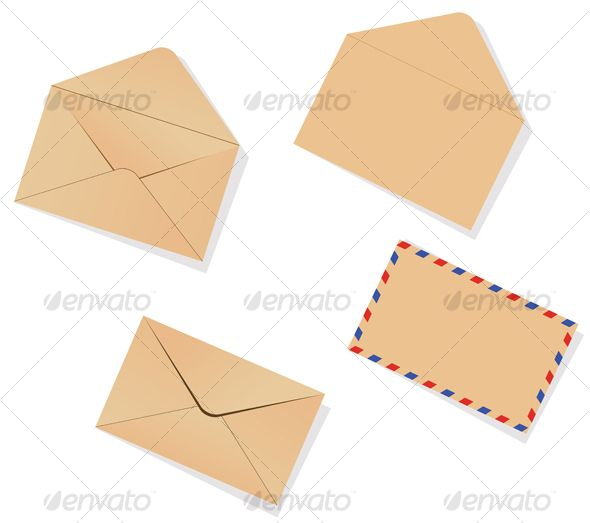 Different envelopes Vector graphics, Infographics and Graphics