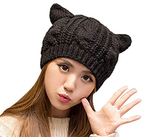 Black Cat Slouch Hat - Free Crochet Cat Hat Pattern | Mütze ...