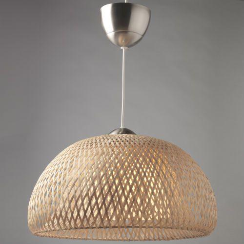 Ikea Wicker Lamp Shades: BÖJA Pendant Lamp, Rattan Bamboo
