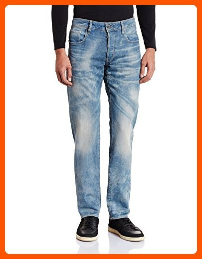7111e653816 G-Star Raw Men's 3301 Slim Vekos Stretch Denim, Medium Aged, 38x32 ...
