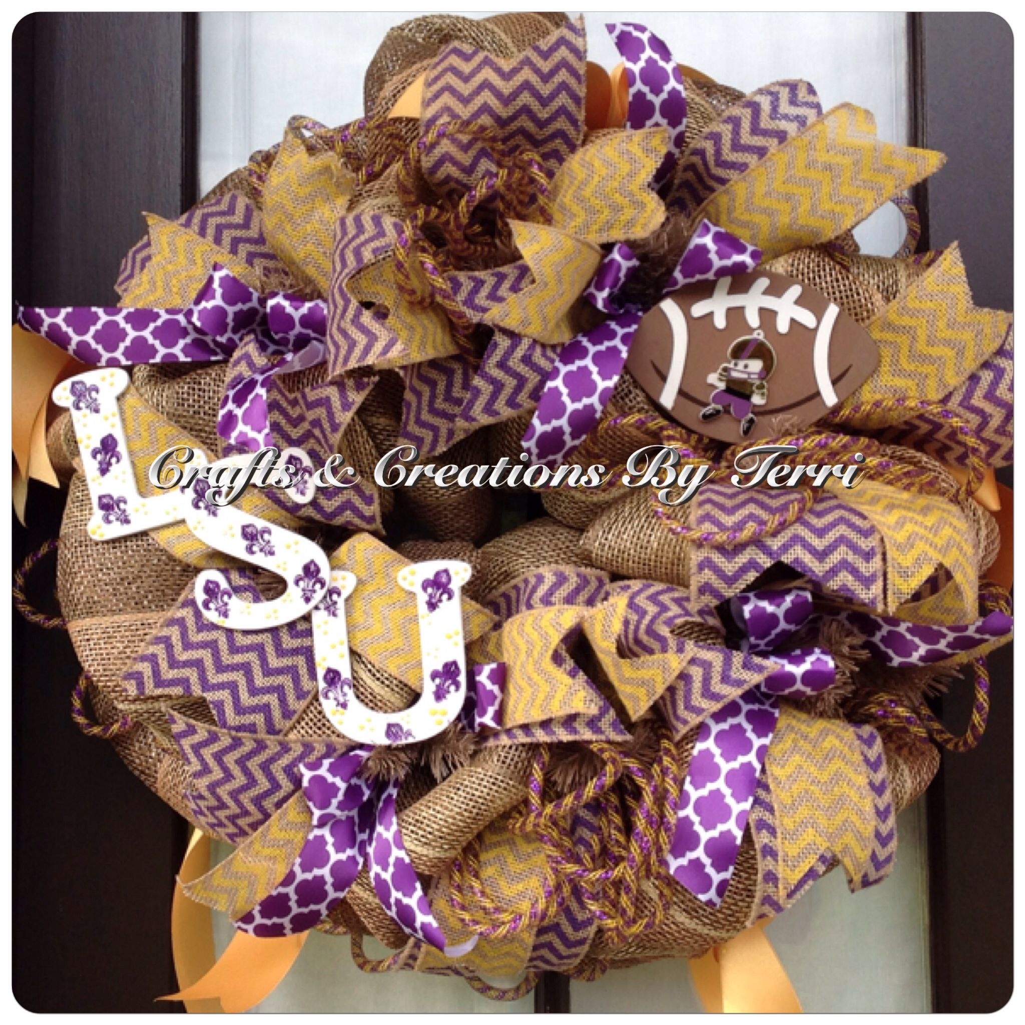 Groovy Lsu Tigers Football Burlap Wreath More Wreaths Can Be Found On My Hairstyle Inspiration Daily Dogsangcom