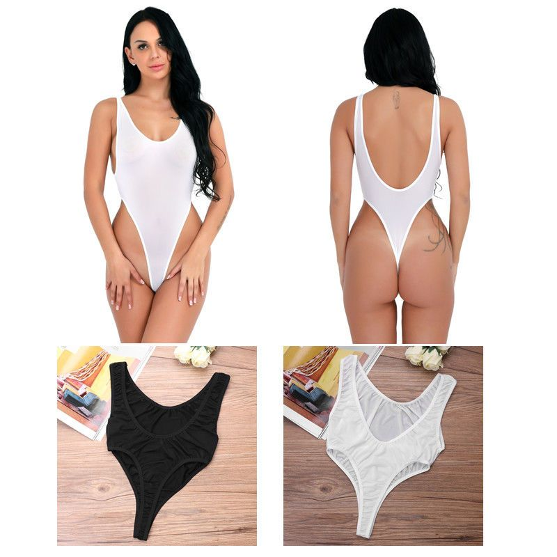 18f4e30f5a7 Womens Sexy Sheer See Through Lingerie High Cut Leotard Backless Thong  Swimwear  fashion  clothing  shoes  accessories  womensclothing   jumpsuitsrompers ...
