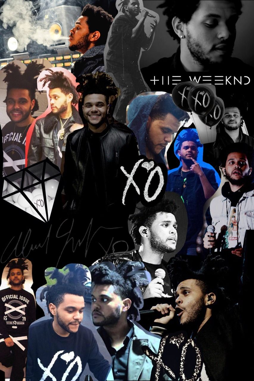 The weeknd tumblr collage buscar con google the - Drake collage wallpaper ...