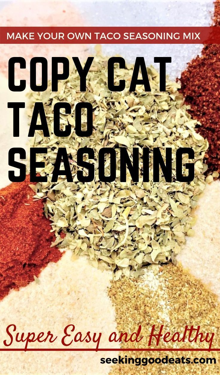 Copy Cat Taco Seasoning Mix #maketacoseasoning