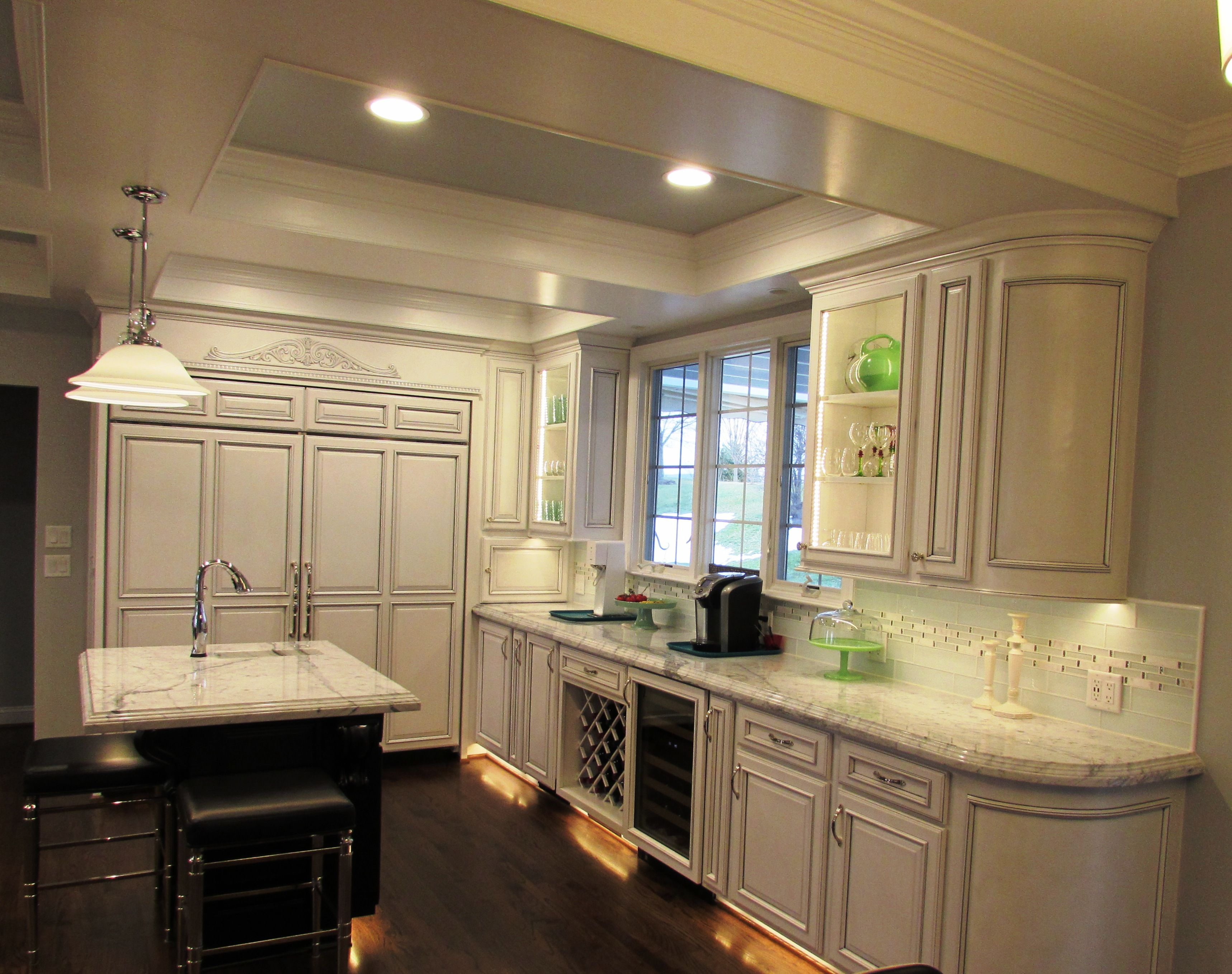 Large Kitchen Renovation In Myersville Md With Granite Tops Large Kitchen Renovation Kitchen Remodeling Contractors Custom Kitchens