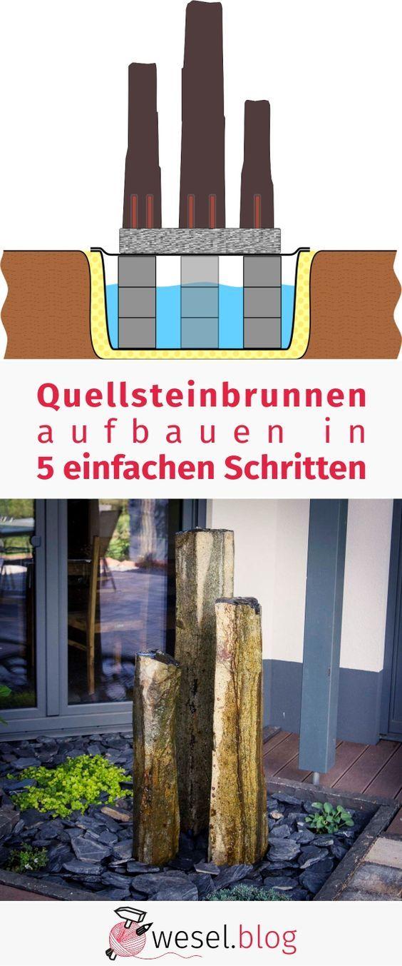 Quellsteinbrunnen aufbauen in 5 einfachen Schritten - DIY Tutorial ...