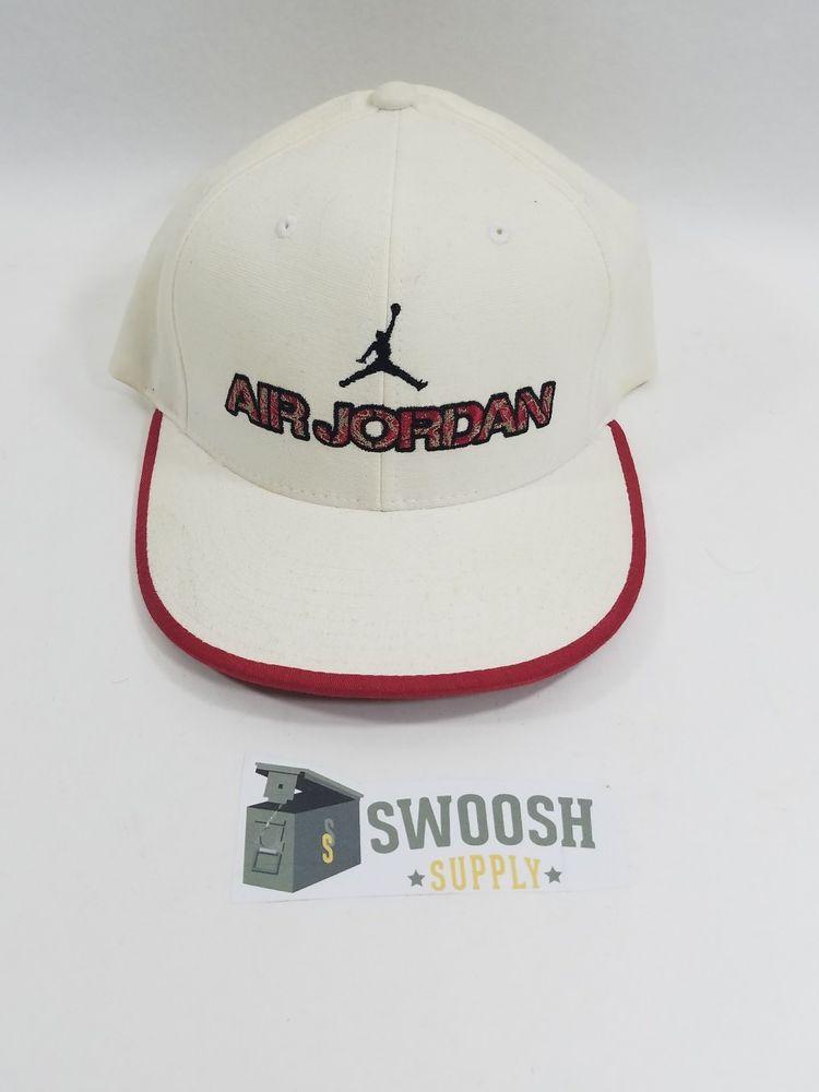 831aa4e55b2 Vintage Nike Retro Air Jordan Jumpman Old School 23 Fitted Hat 596123 100  L XL  Nike