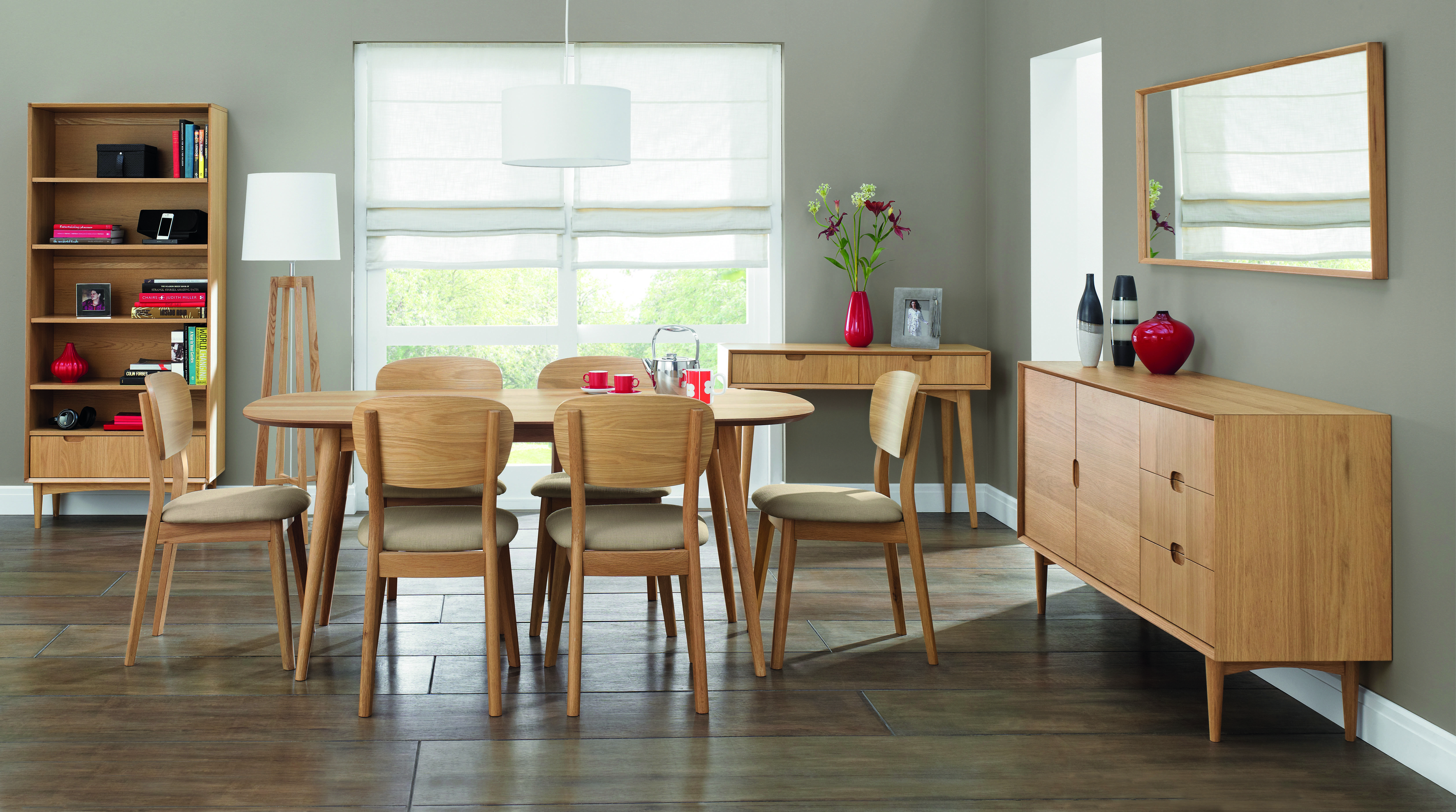 Oslo Oak 6 Seater Dining Table & Choice of 6 Dining Chairs Table