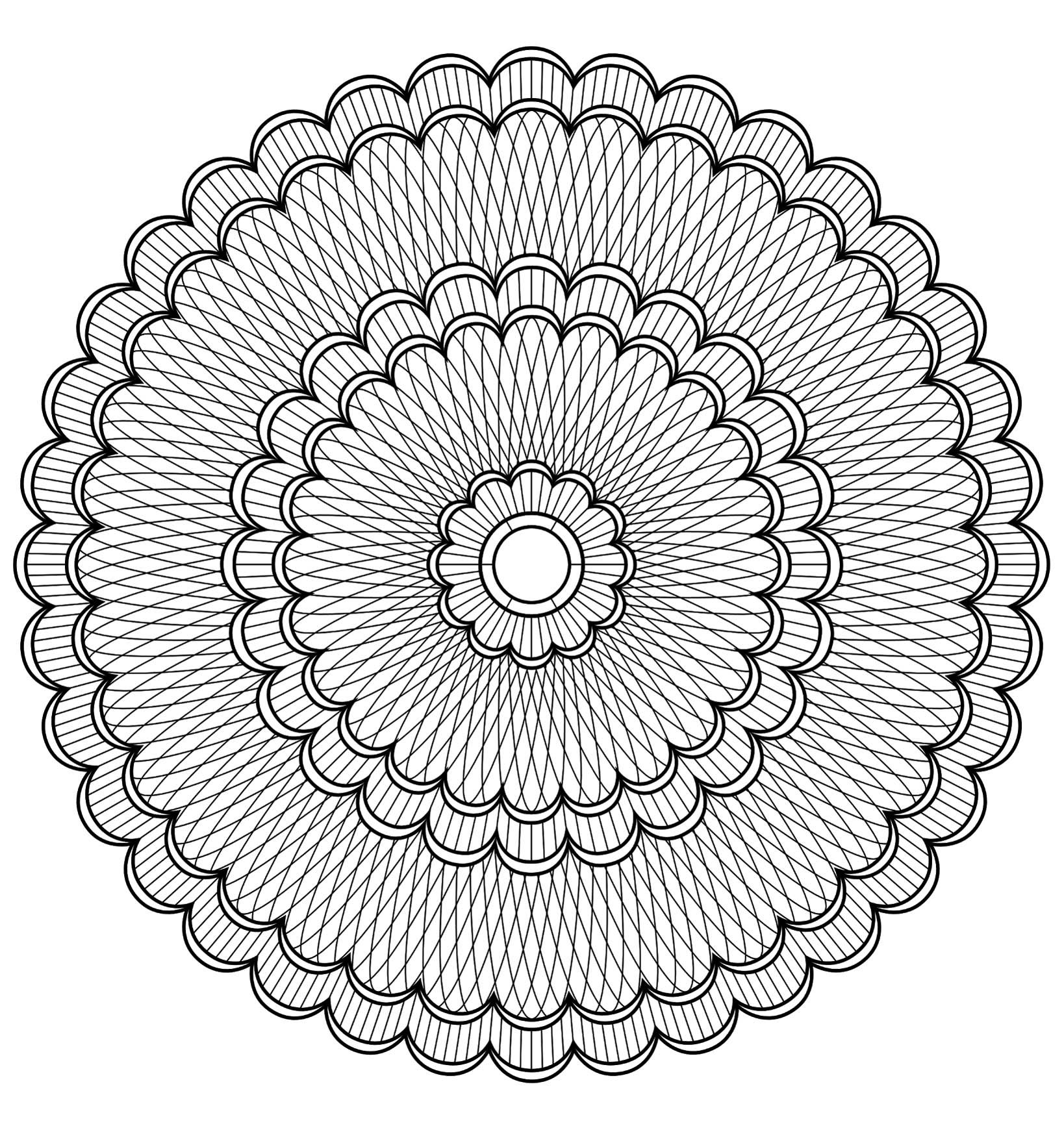 Mandala To Color Patterns Geometric 4 From The Gallery