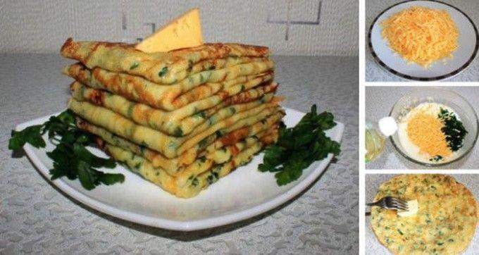Nejlepší slané palačinky s česnekem, sýrem a bylinkami | NejRecept.cz