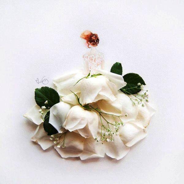 Roos-trouwjurkje