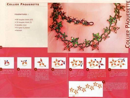 Схема цветочного браслета из Интернета
