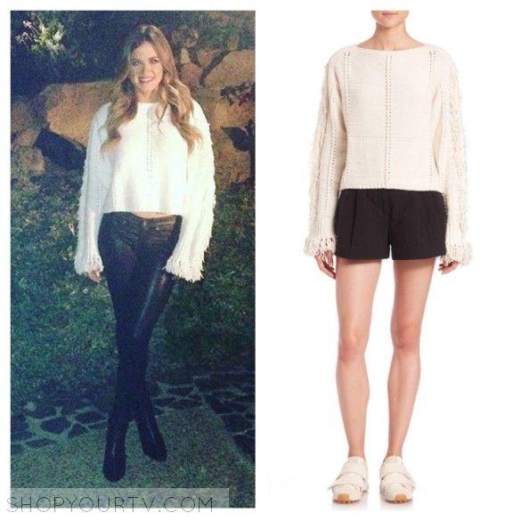The Bachelorette Season 12 Episode 2 Jojos Ivory Beige Fringe Sleeve Sweater