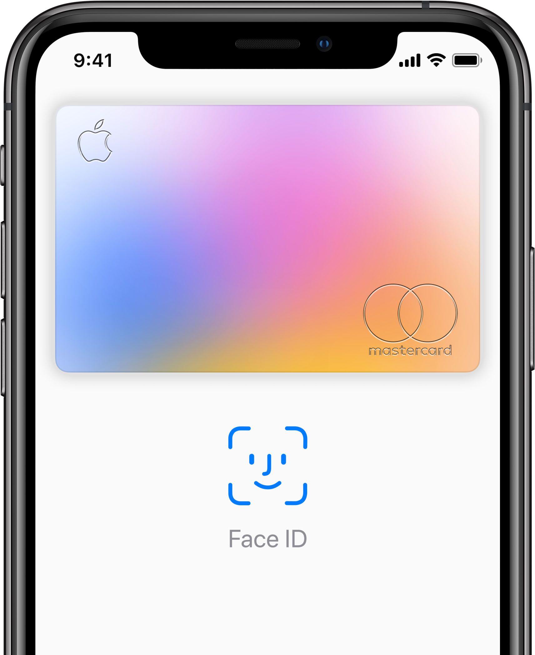 Apple card face id