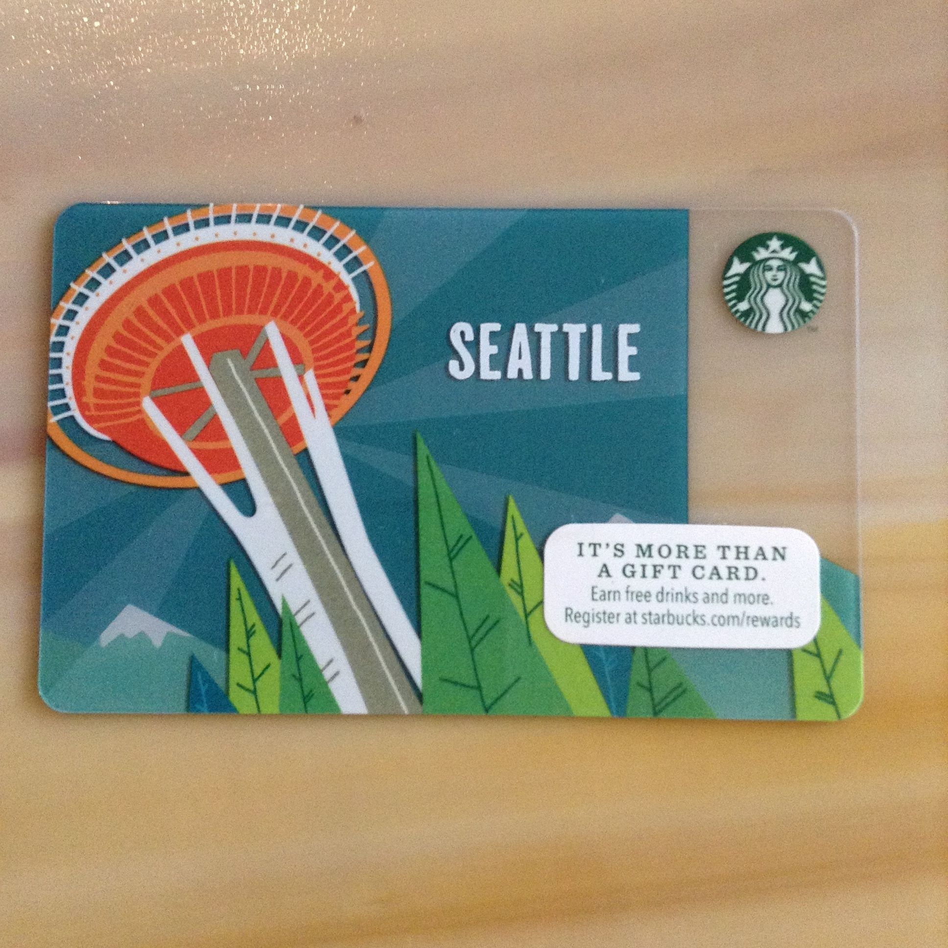 This card was available in select seattle and surrounding