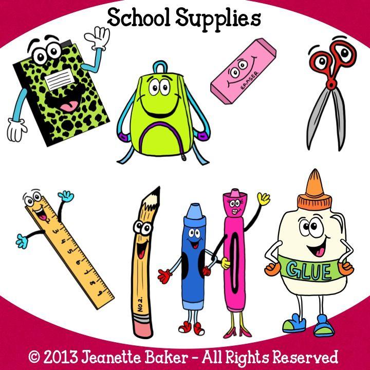 School Supplies Clip Art by Baker School