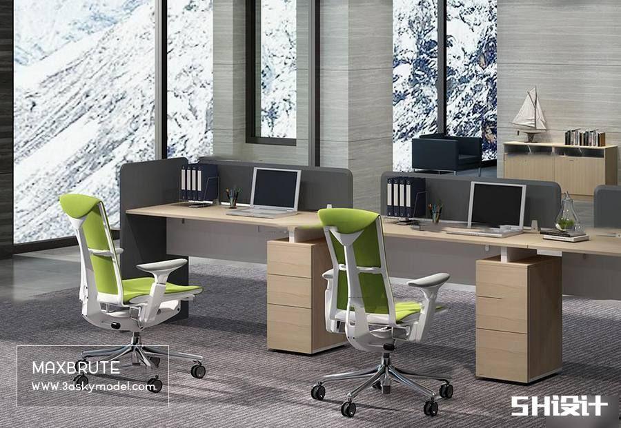 Sell Office Set 3dsmax Maxbrute Furniture Visualization Office Set Office Furniture
