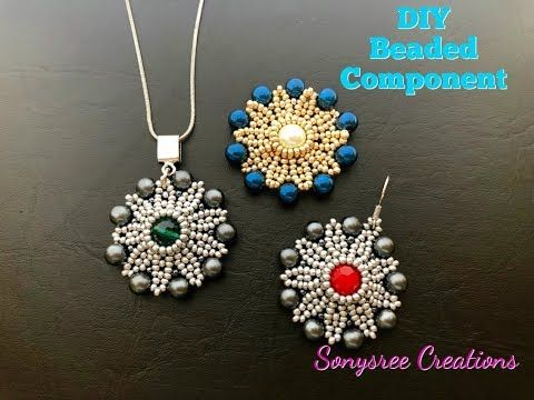How to make this stunning Beaded Component - YouTube #beads