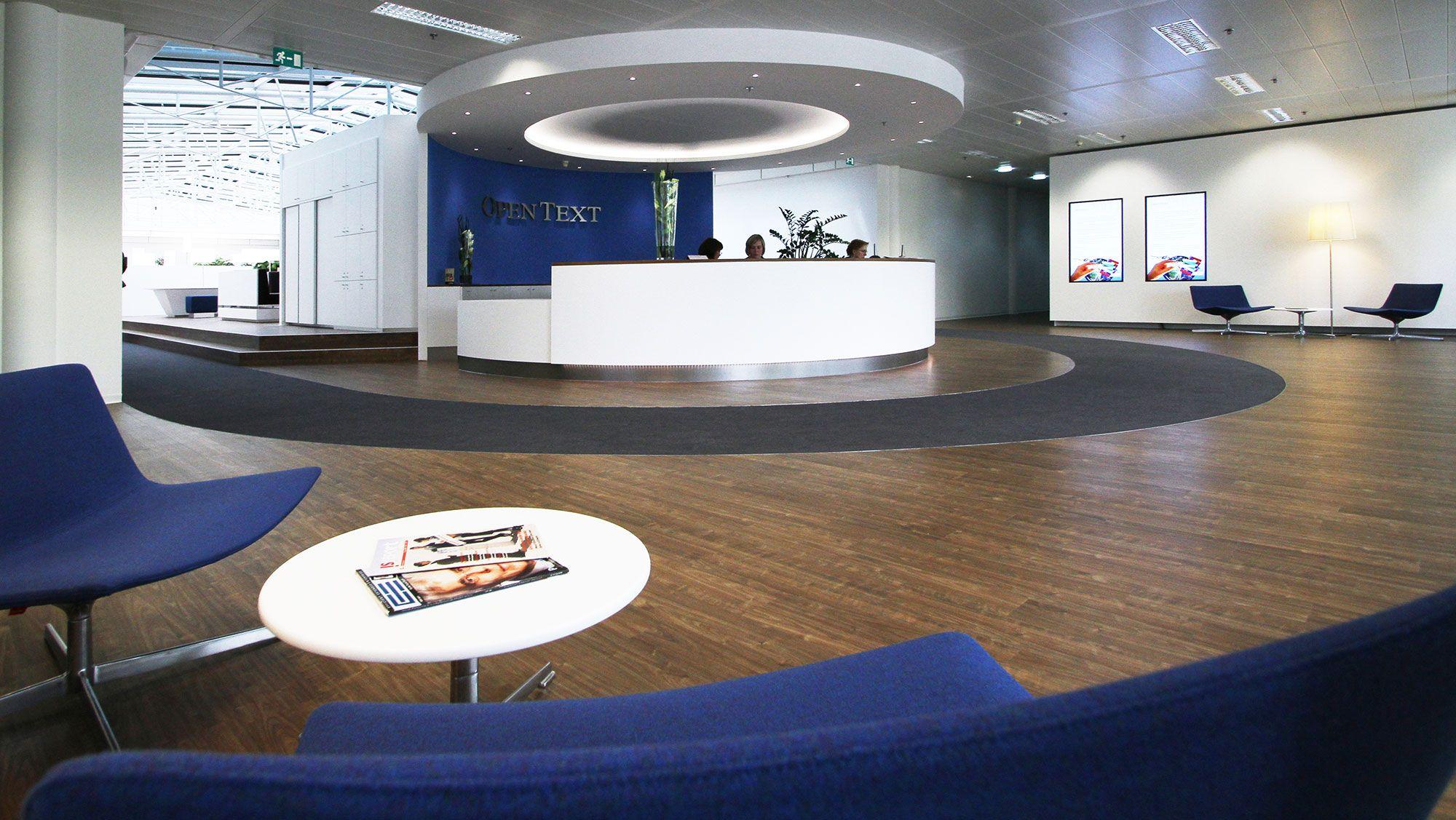 OPENTEXT // Design by RBSGROUP www.rbsgroup.eu // Reception desk // welcome // design