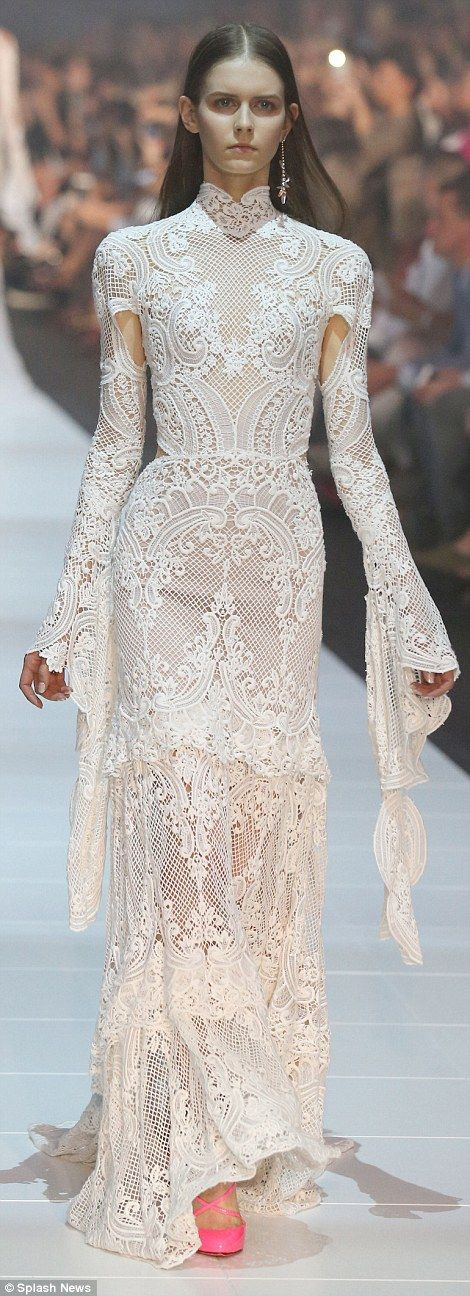 Bridal trends on the J\'Aton Couture runway at VAMFF | Neckline ...