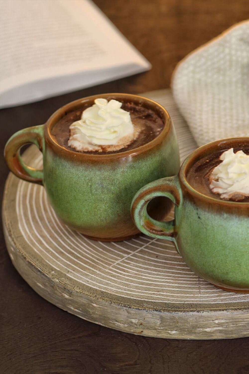 Dark chocolate peppermint spiked hot cocoa recipe