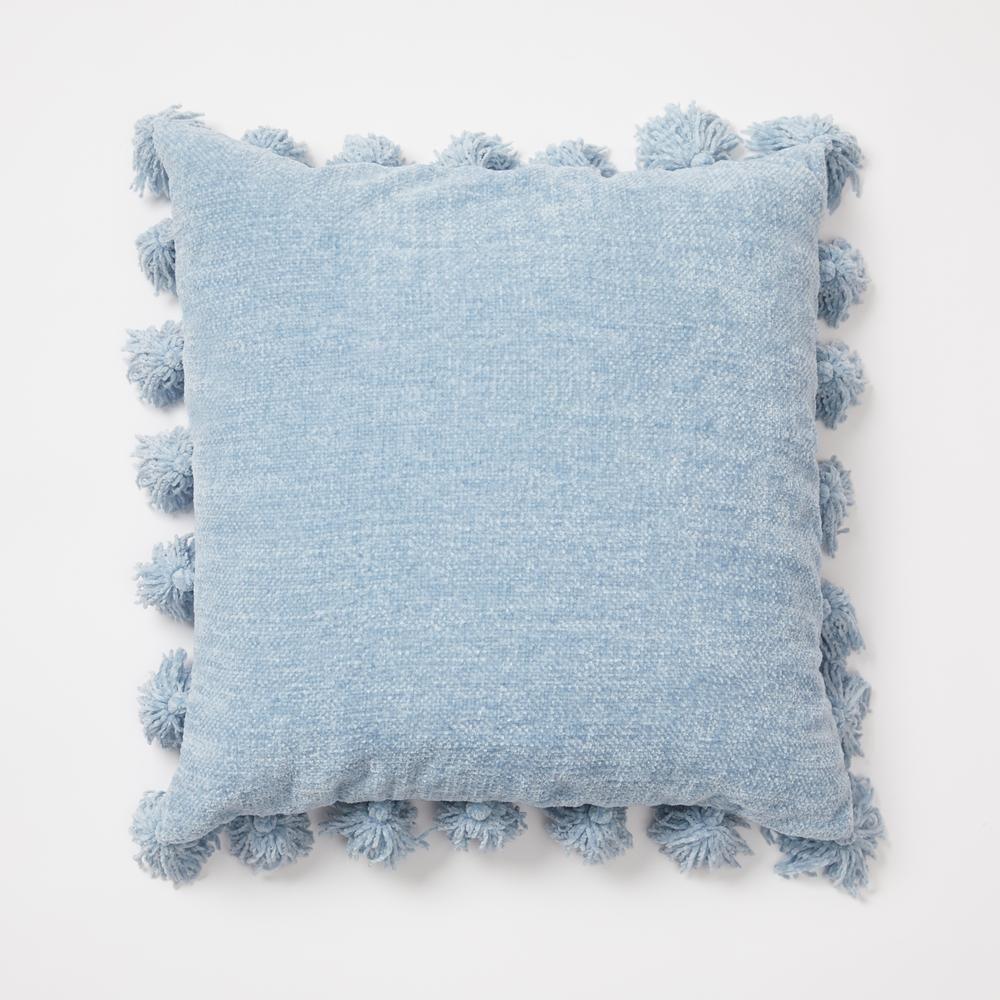 Chenille Knit Tassel Pillow In 2020 Light Blue Throw Pillows Blue Room Decor Light Blue Pillows