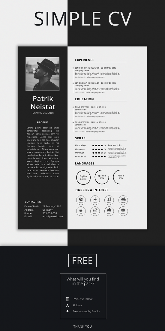 Best Creative Resume For Graphic Designers Psd File  Ideas