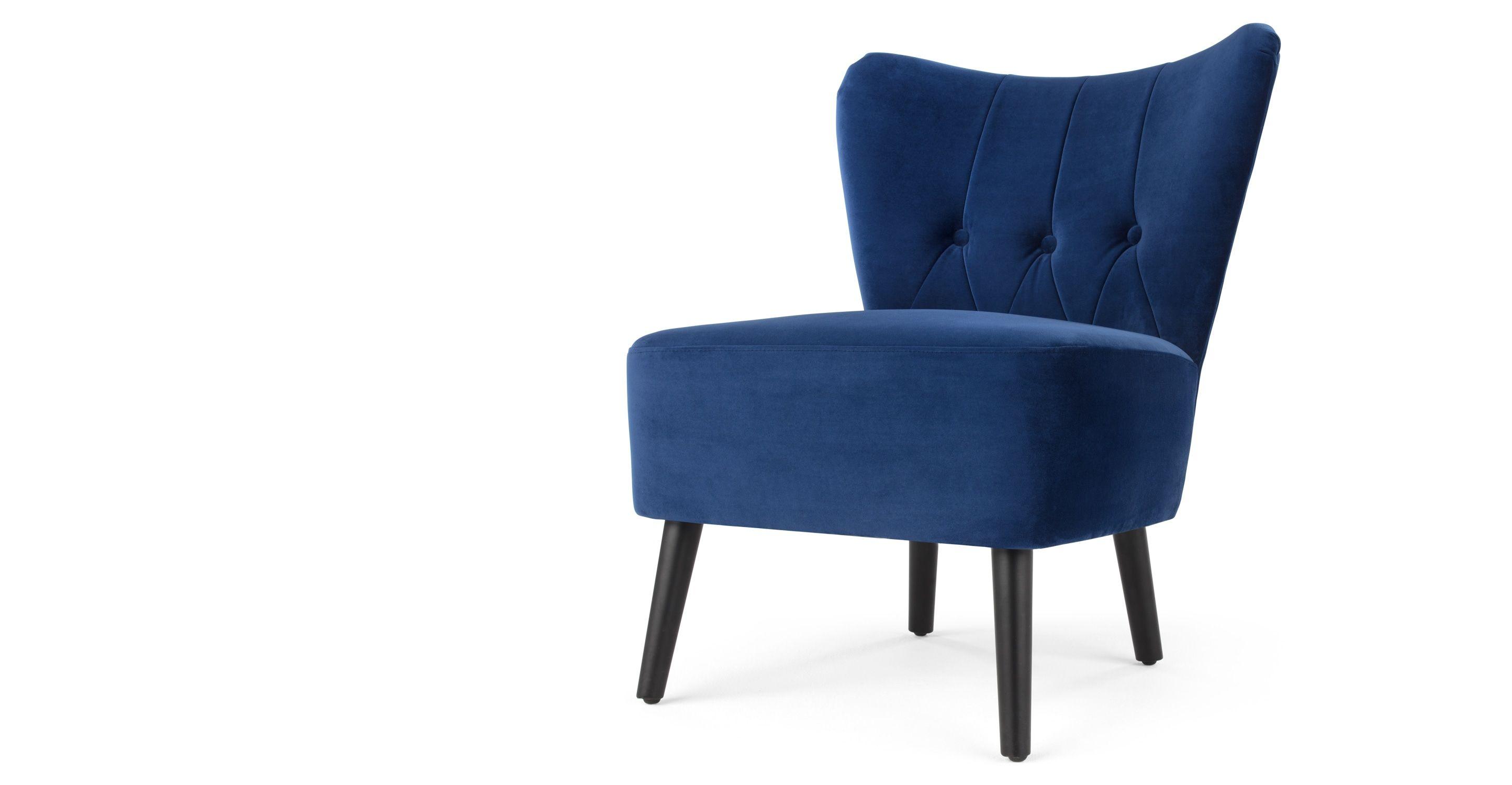Design Alle Sessel Charley Sessel Samt In Cyanblau Made