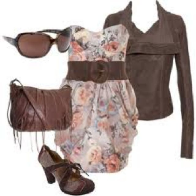Love tha dress n jacket everything else is eh..