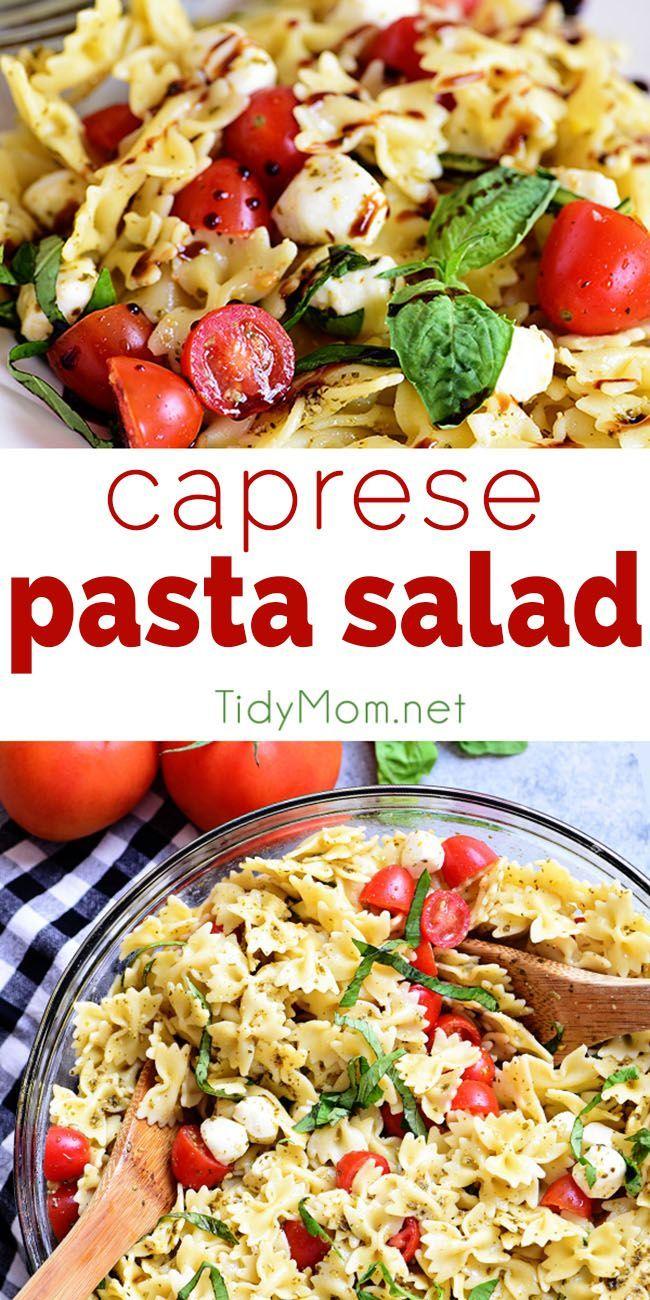Caprese Pasta Salad | TidyMom