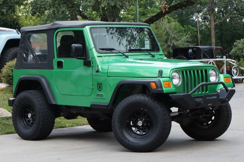 Rare 2005 Electric Lime Green Jeep Wrangler