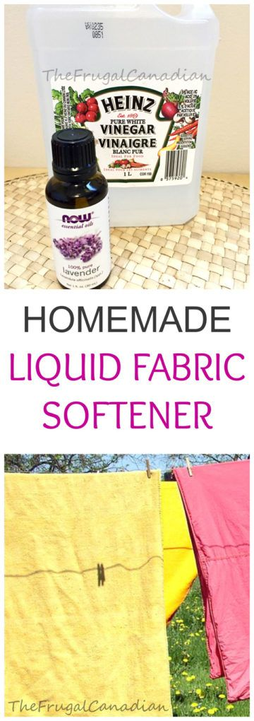 Homemade Laundry Liquid Fabric Softener Diy Recipe