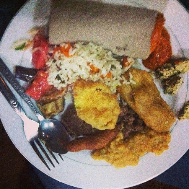 Traditional Ethiopian food. I hated it!