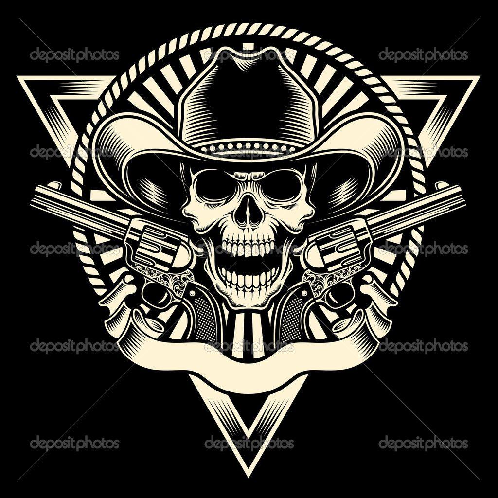 Skull With Bandana Over Face Tattoo