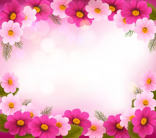 beautiful flower frame vector graphics 01 free over millions