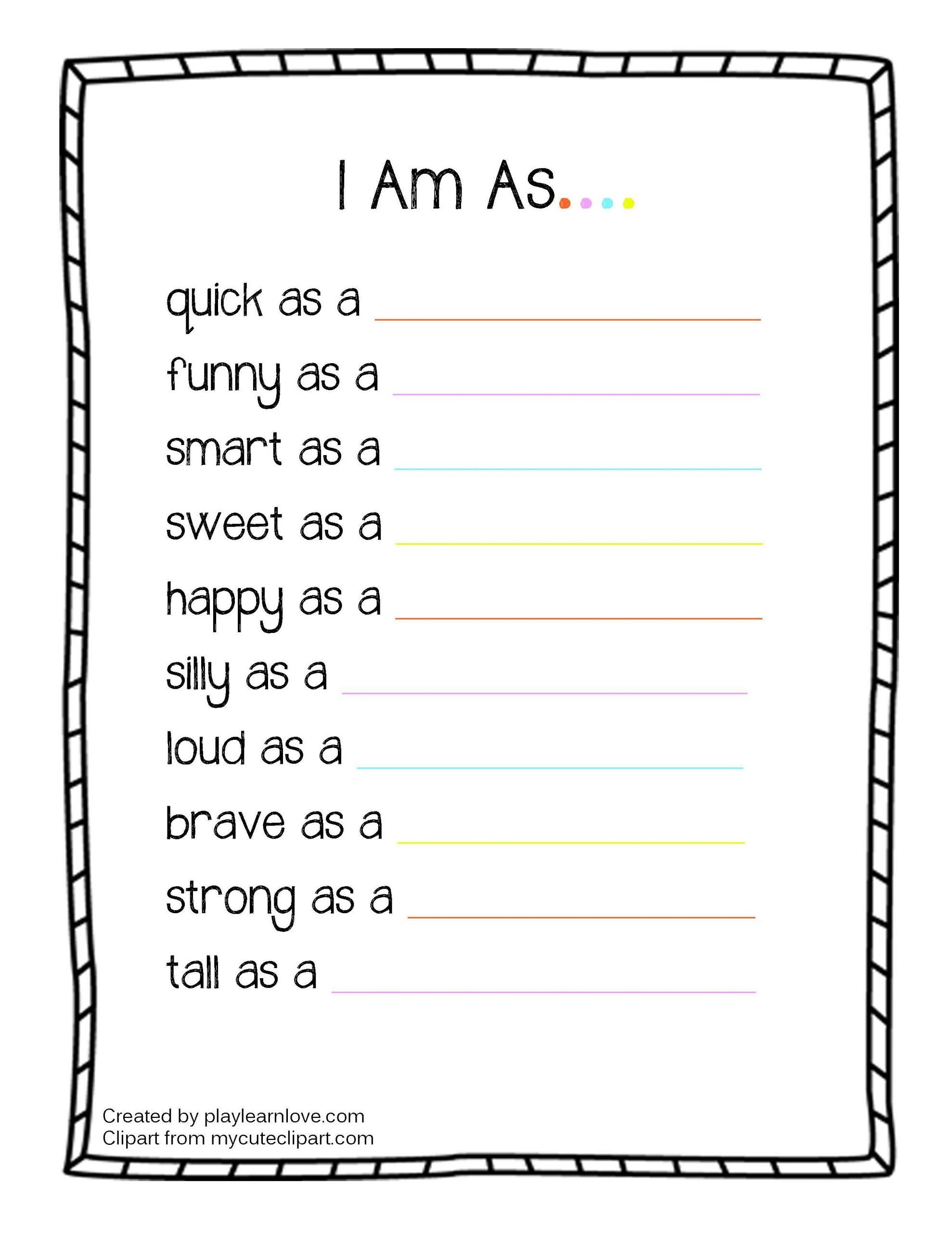 All About Me Worksheet Preschool All About Me I Am