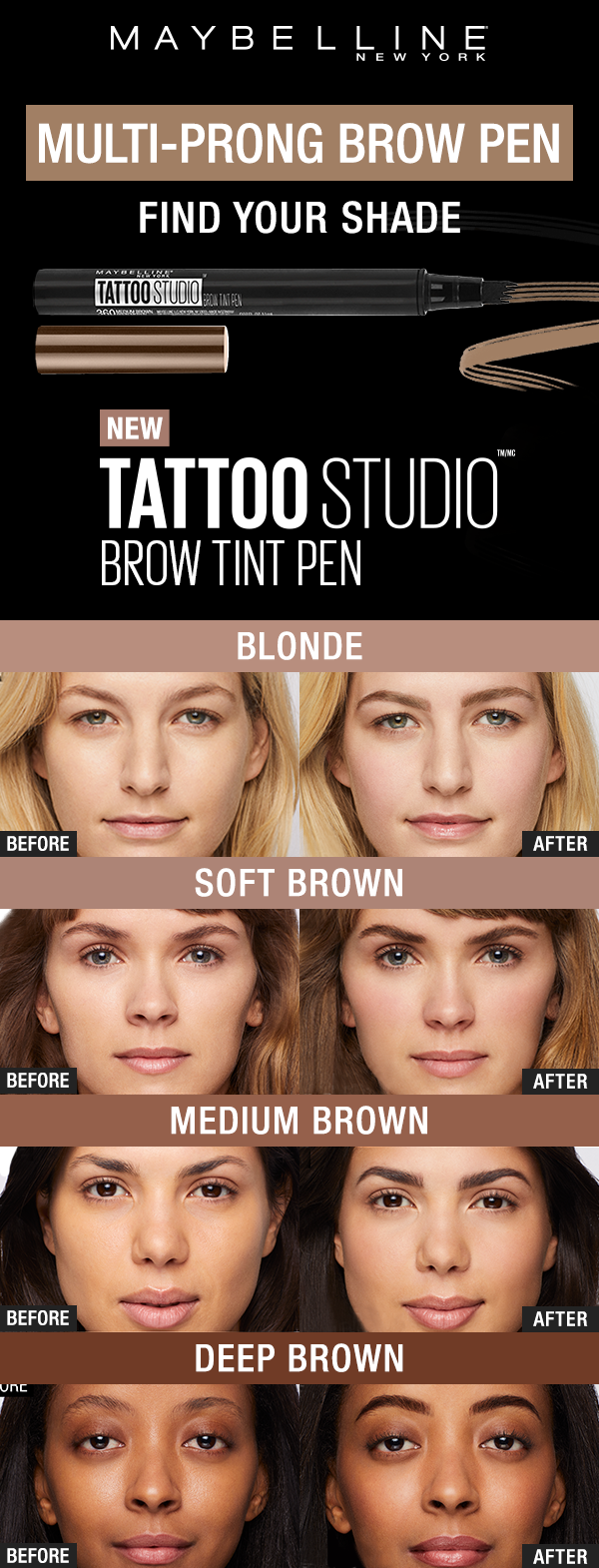 be910579452 Want next-level brows? Try our new TattooStudio Brow Tint Pens. With the