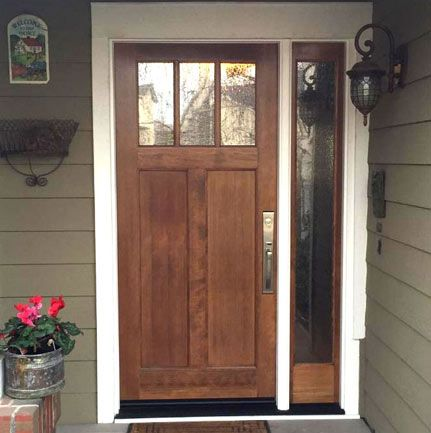 Inspirational Entry Doors with Single Sidelight