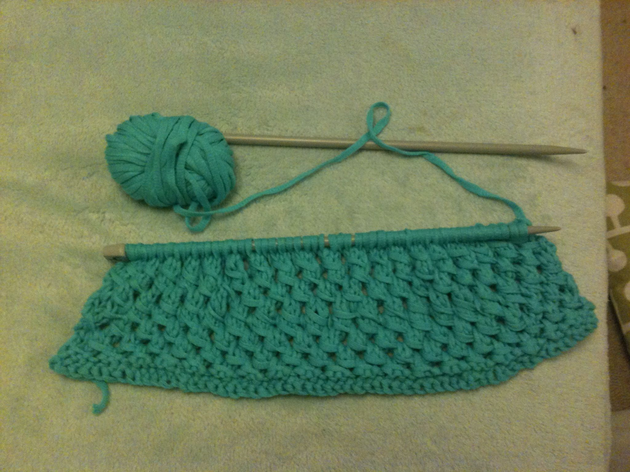 Basket In Progress Using Fashion Summer Yarn
