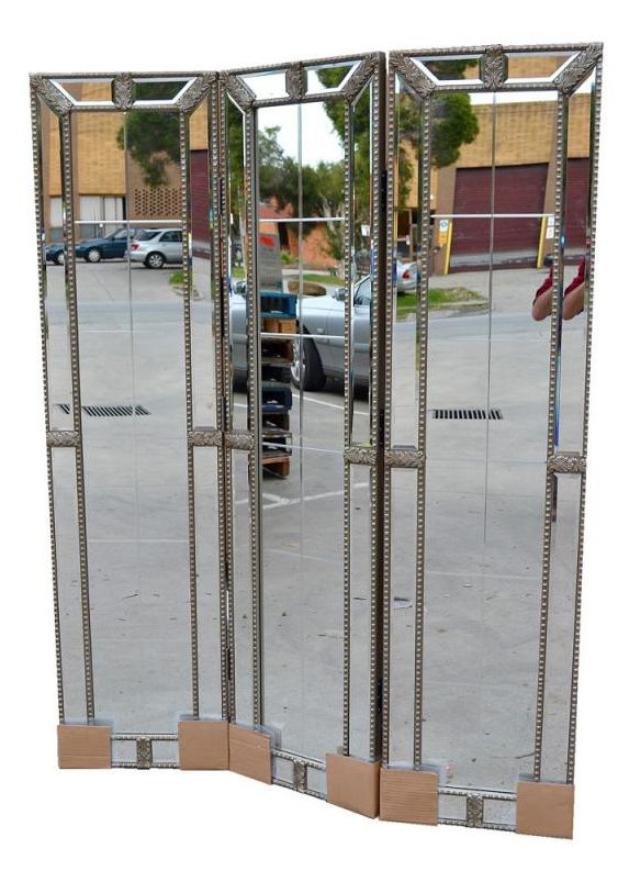 Image detail for Beaded Empire Mirror Room Divider Screen