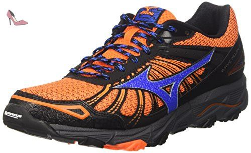 Mizuno Synchro MX 2, Chaussures de Running Entrainement Homme, Orange (Clownfish/Black/Vapor Blue), 44 EU