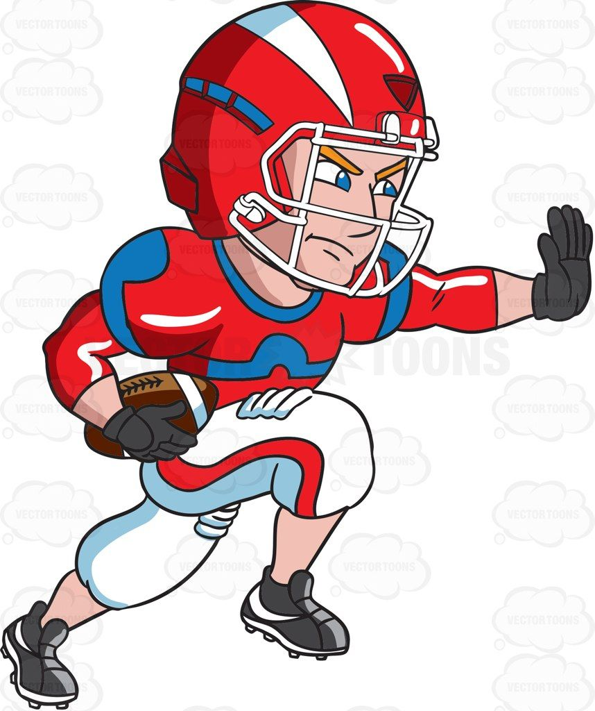 A Football Player Charges Ahead While Blocking An Opponent Football Players Images Football Players Football