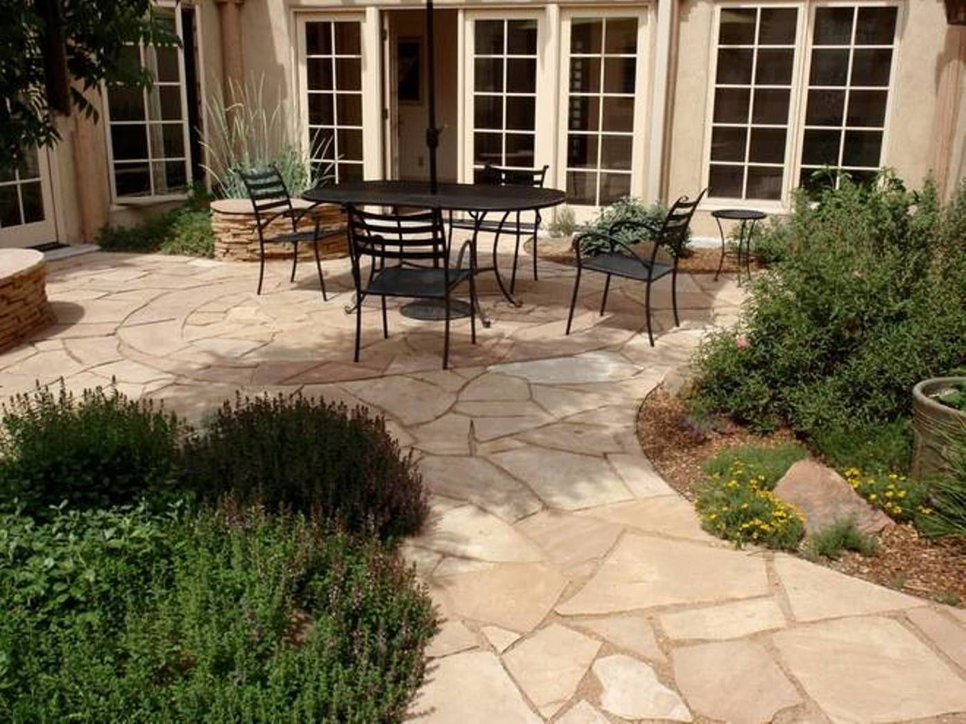 Landscaping And Outdoor Building Outside Patio Flooring Ideas