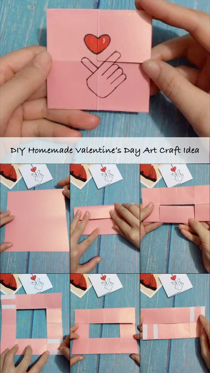 DIY Homemade Valentine's Day Art Craft Idea