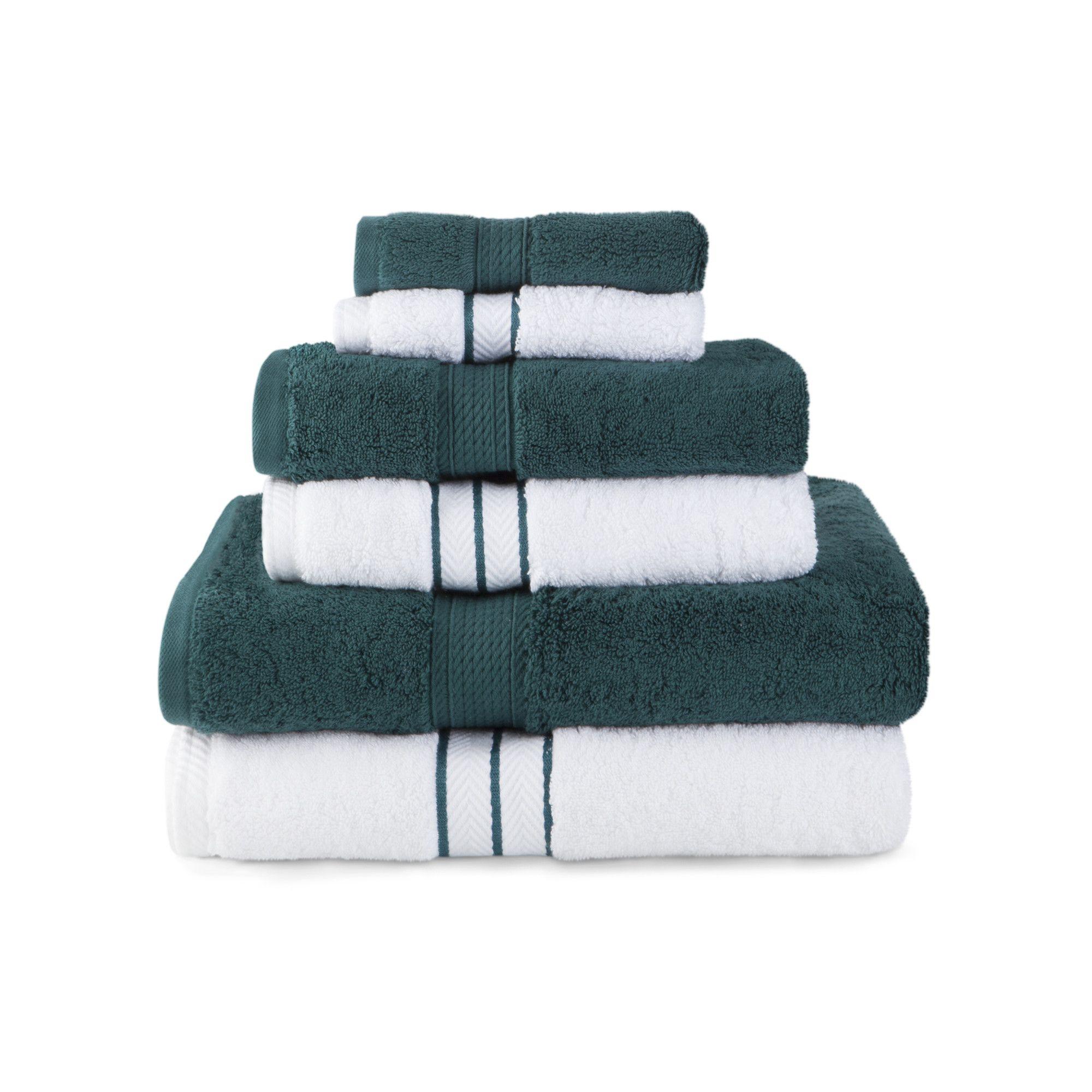 Veronica 6 Piece Towel Set Towel Set Luxury Towels Towel