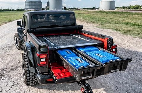 Decked Truck Bed Tool Boxes Organizers And Cargo Van Storage System In 2020 Decked Truck Bed Truck Bed Van Storage