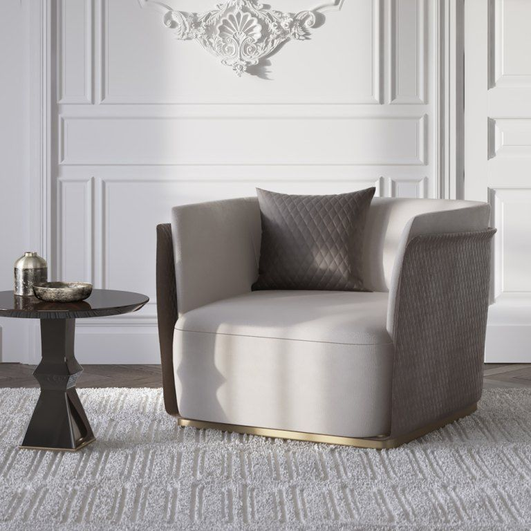 Italian Furniture Stores: Contemporary Italian Nubuck Armchair